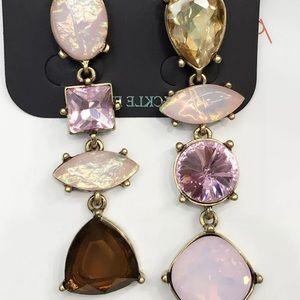 Pink Crystal Chandelier Earrings